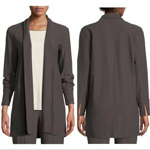 EILEEN FISHER✨Stretch-Crepe Open Front Long Jacket